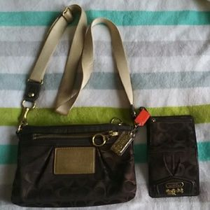 COACH Poppy crossbody bag with wallet